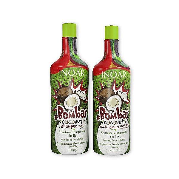 Inoar - Kit #Bombar Coconut - Shampoo e Condicionador 1L