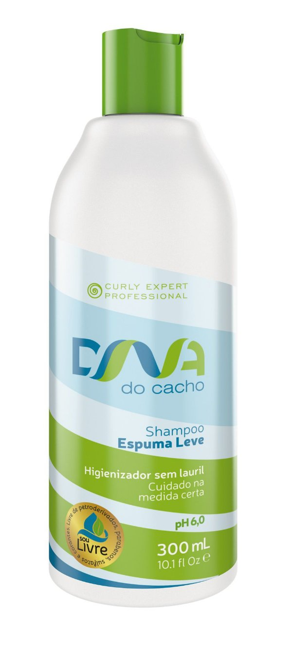 DNA do Cacho Shampoo Espuma Leve 300ml - Salon Embelleze