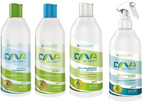 COMBO DNA do Cacho 4 itens com Shampoo Espuma Leve 300ml - Salon Embelleze