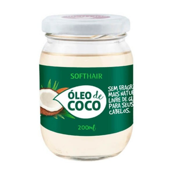 Óleo de Coco Vegano - 200ml - SoftHair