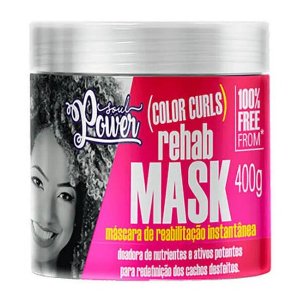 Máscara Rehab Mask Color Curls 400g - Soul Power