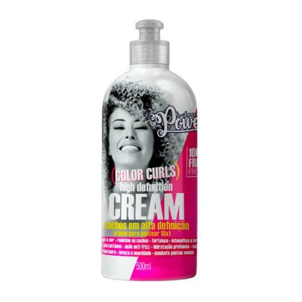 Creme de Pentear High Definition Cream Color Curls 500ml - Soul Power