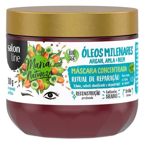 Maria Natureza Máscara Óleos Milenares 300g  - Salon Line