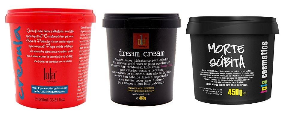COMBO Creoula Creme de Pentear e Co-wash 930g + Dream Cream 450g + Morte Súbita 450g