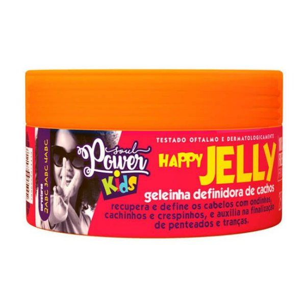 Geléia Para Cachos Infantil Happy Jelly 250g - Soul Power