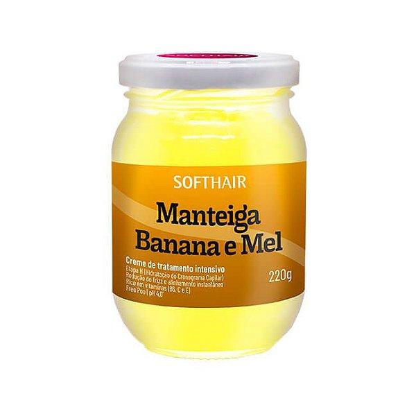 Manteiga de Banana e Mel 220g - Soft Hair