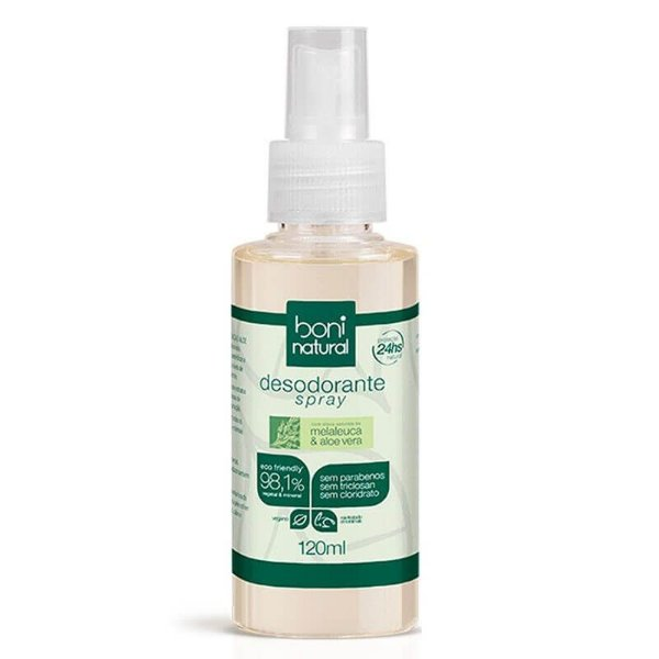 Desodorante Spray Melaleuca e Aloe Vera 120mL - Boni Natural