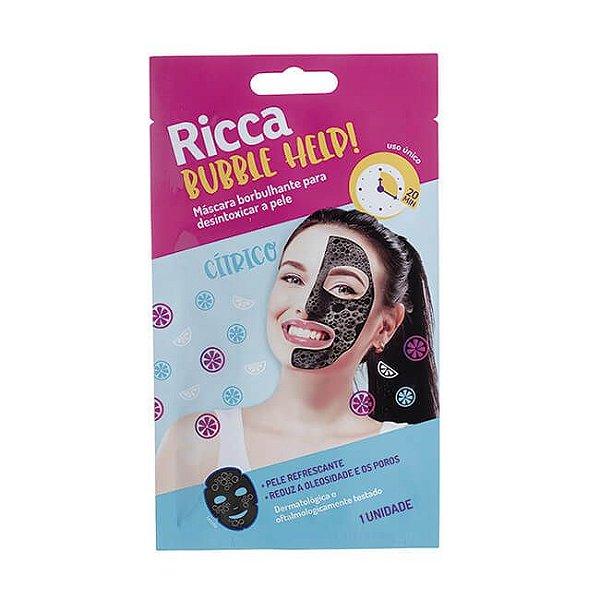 Máscara Facial Borbulhante Detox 10g - Ricca