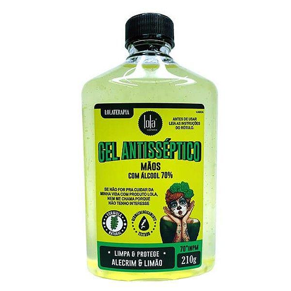Álcool em Gel - Antisséptico Alecrim e Limão 210g - Lola Cosmetics