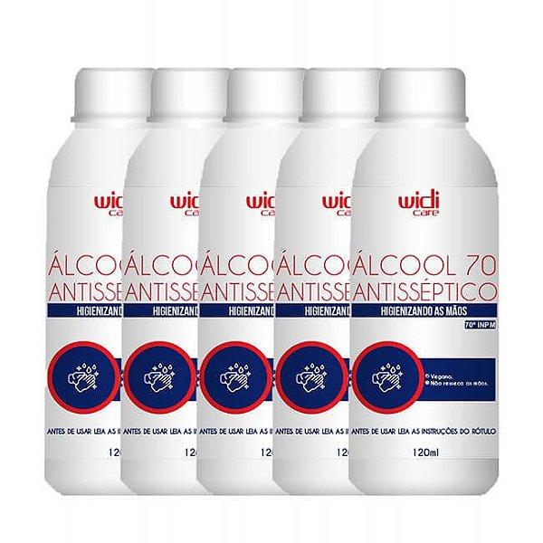 COMBO Álcool 70 Líquido 120ml 1 - Widi Care