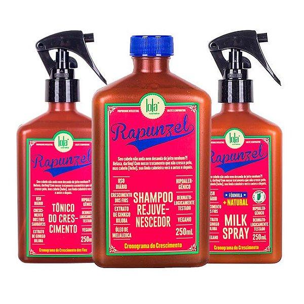 COMBO Rapunzel Shampoo 250ml + Tônico 250ml + Milk Spray 250ml