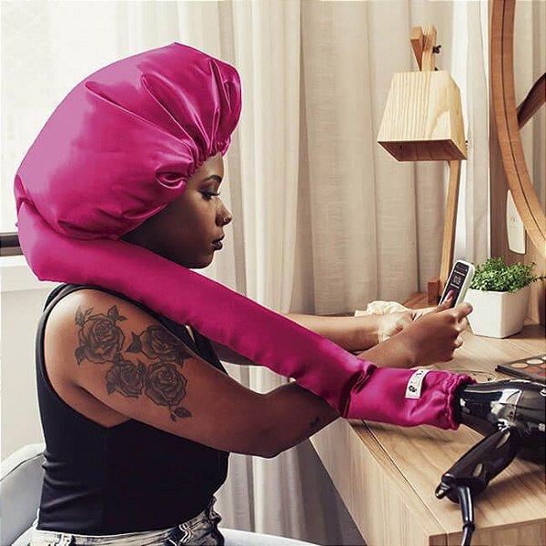 Touca Difusora de Cetim Pink - Turban