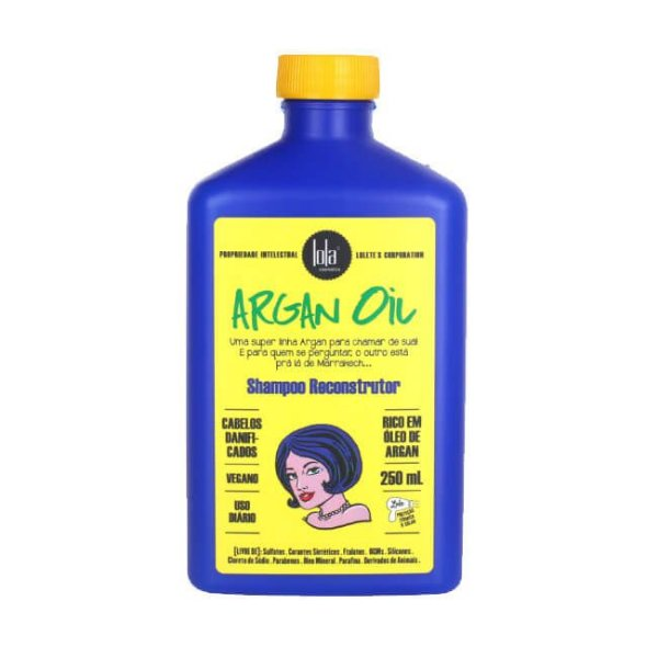 Shampoo Reconstrutor Argan Oil 250ml - Lola Cosmetics