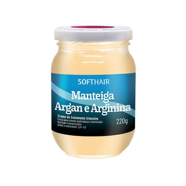 Manteiga de Argan e Arginina 220g - Soft Hair