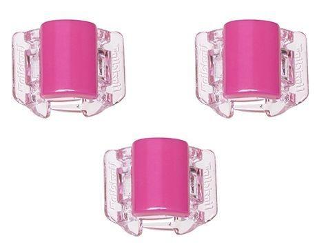 Linziclip MINI - Cartela com 3 - Basic Hot Pink
