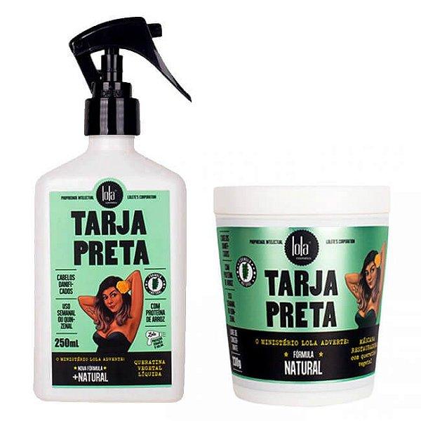 COMBO Tarja Preta - Queratina Vegetal Líquida 250ml + Máscara Restauradora 230g