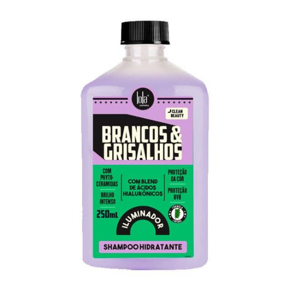 Brancos e Grisalhos Shampoo Hidratante Iluminador 250mL - Lola Cosmetics