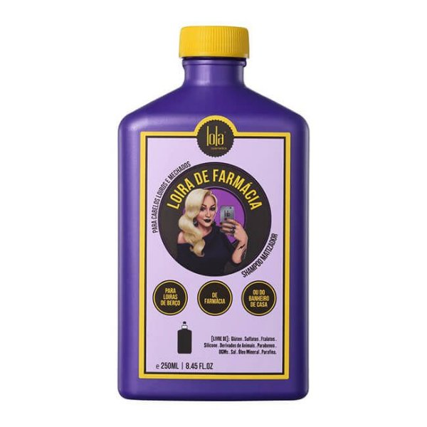 Loira de Farmácia - Shampoo Matizador 250ml - Lola Cosmetics