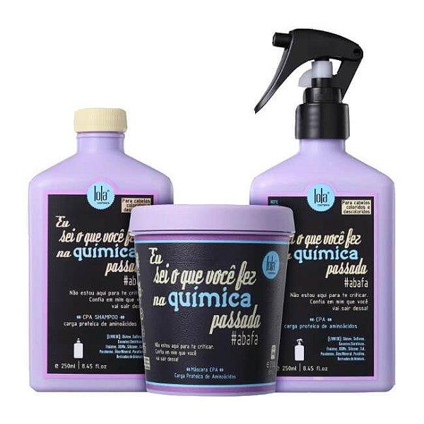 COMBO Eu Sei o Que Você Fez na Química Passada - Shampoo 250ml + CPA 250ml + Máscara 230g Lola Cosmetics