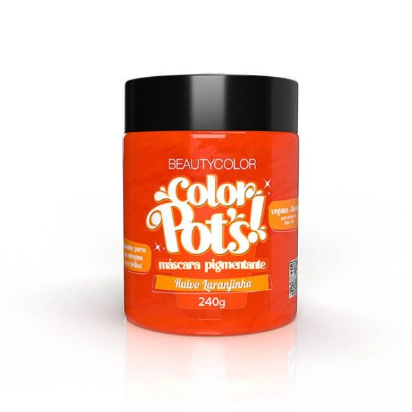 Máscara Pigmentante Color Pot's! Ruivo Laranjinha 240g - Beauty Color
