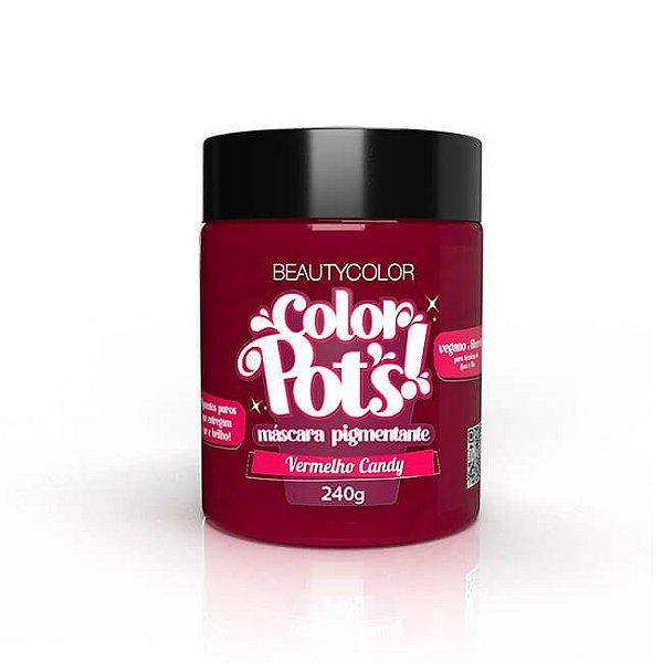 Máscara Pigmentante Color Pot's! Vermelho Candy 240g - Beauty Color