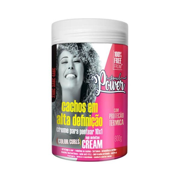 Creme Para Pentear Color Curls High Definition Cream 800g - Soul Power