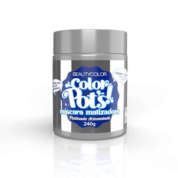Máscara Matizadora Color Pot's! Platinado Acinzentado 240g - Beauty Color