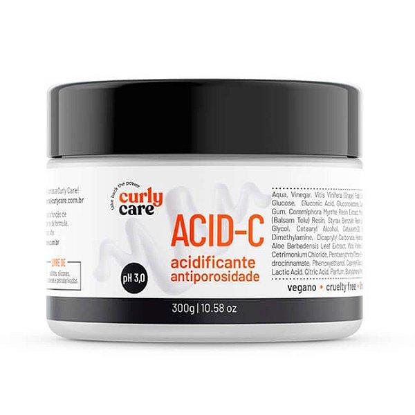 Acid-C Acidificante Antiporosidade 300mL - Curly Care