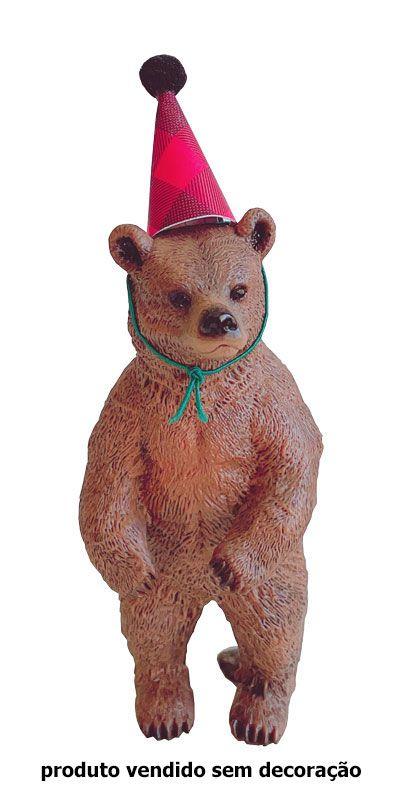 Topo de bolo - Urso marrom (1 unidade - 4.5x4x10.5 cm)