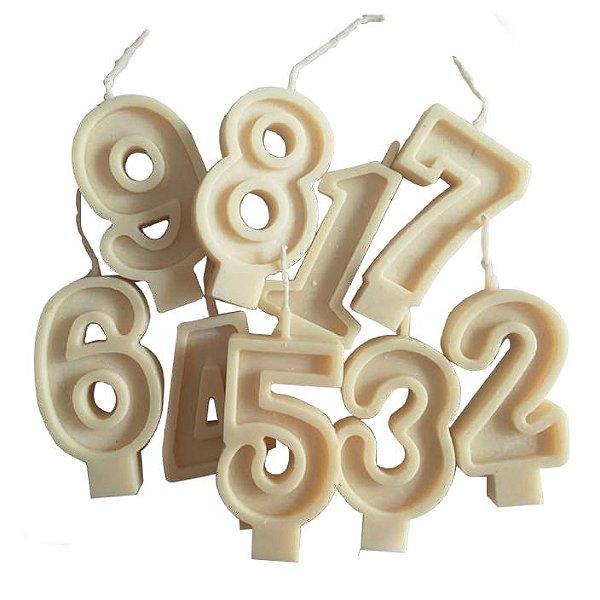 Vela de óleo vegetal para aniversário - Numeral (Eco-Friendly)