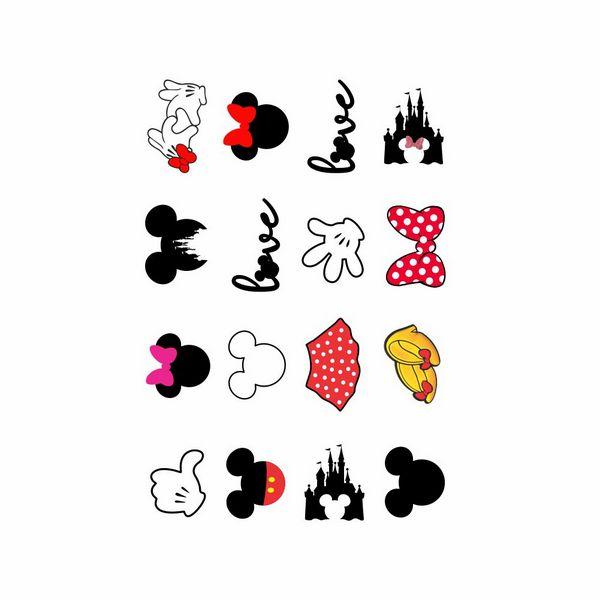 Tatuagem temporária infantil - Disney (16 unidades)