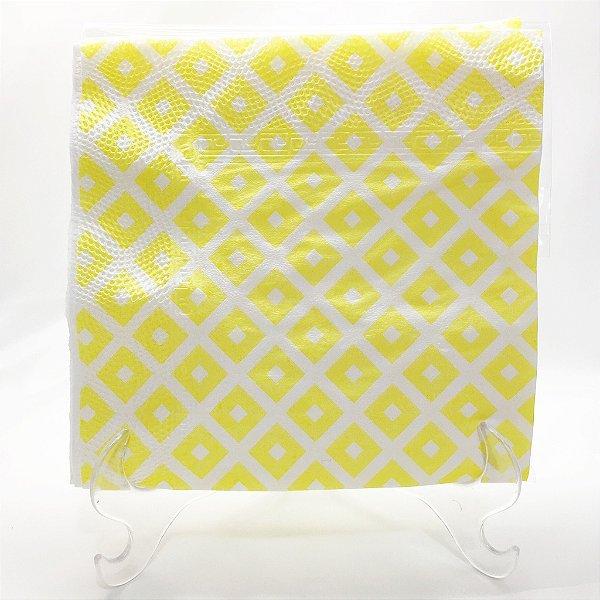 Guardanapo de papel Amarelo geométrico - 33x33cm (10 unidades)