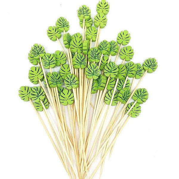 Pick madeira - Folha Verde Monstera (20 unidades)