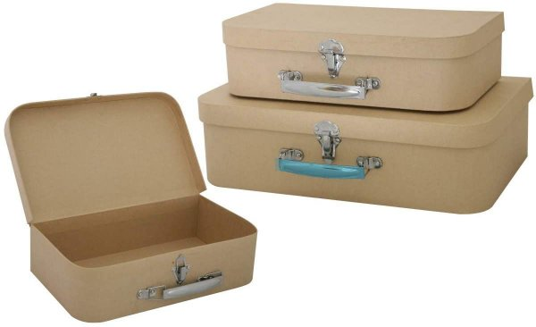 Kit de Maletas / Caixas decorativas - Kraft (3 tamanhos)