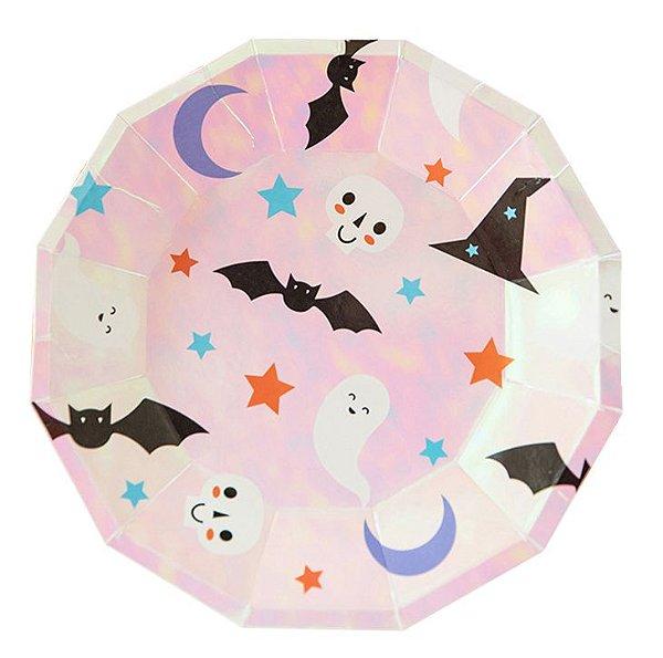 Prato de papel furta cor - Festa de Halloween (8 unidades)