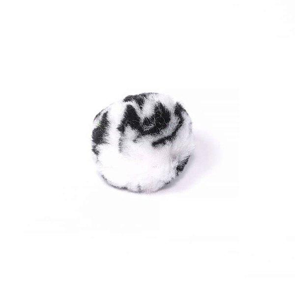 Pompom gigante - Preto e Branco (4 cm - 10 unidades)