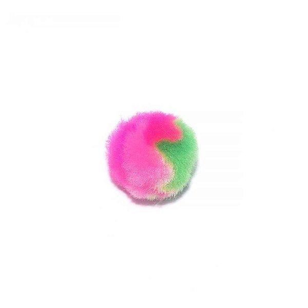 Pompom gigante - Pink e Verde (4 cm - 10 unidades)