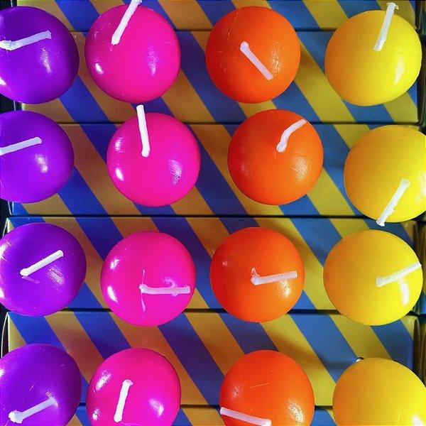 Velas de aniversário - Balões (4 unidades - 6x2.5 cm)