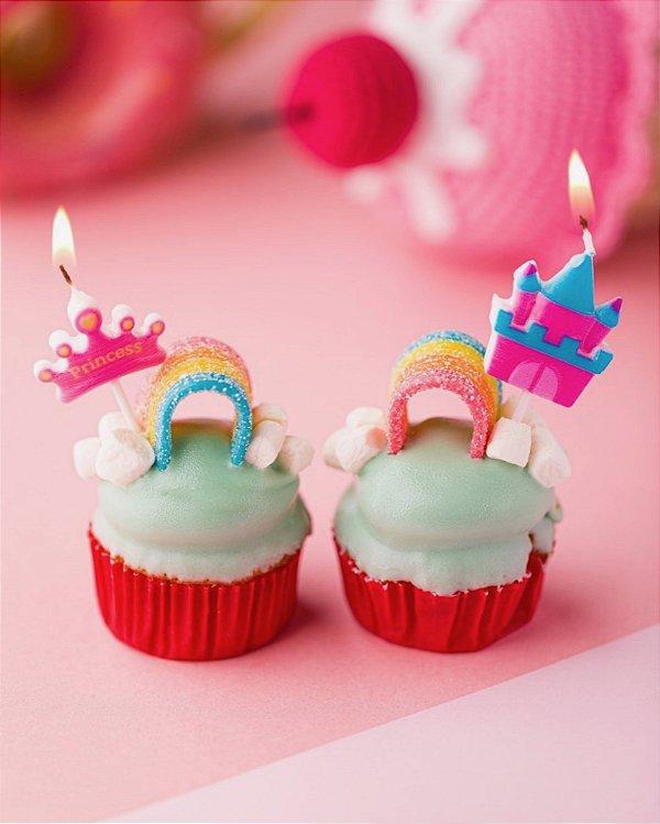 Velas de aniversário - Princesa Rosa (5 unidades)