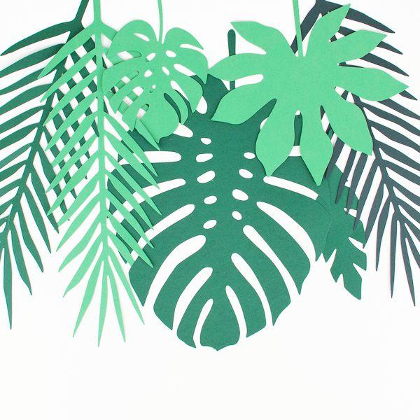 Mix de Folhas Tropicais - 14 folhas / 2 cores