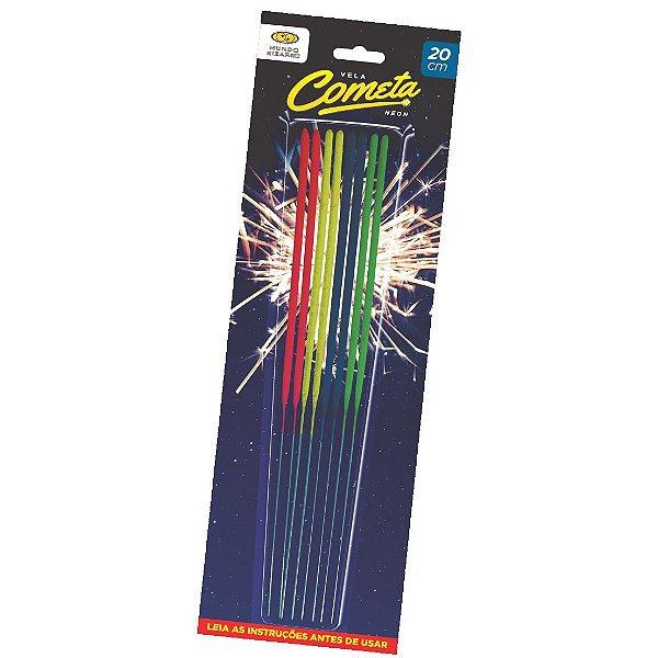 Vela efeito Cometa - Neon (sparkle)