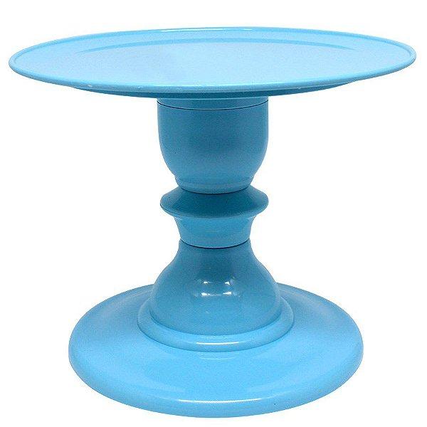 Boleira com pé torneado - Azul Céu