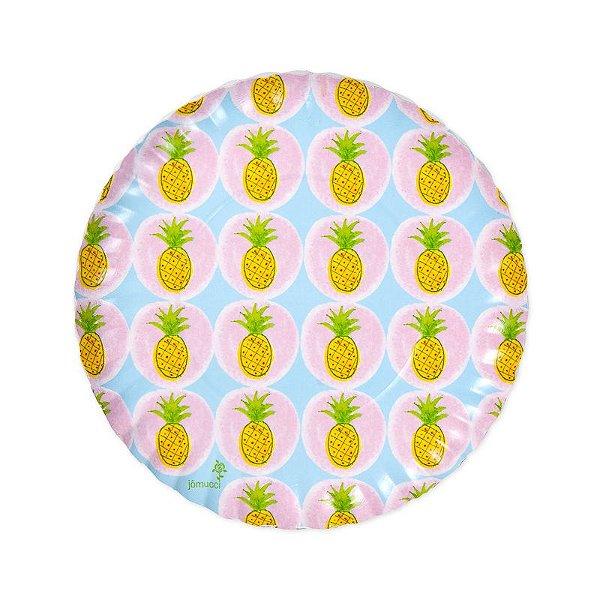 Prato de papel biodegradável - Abacaxi (8 unidades)