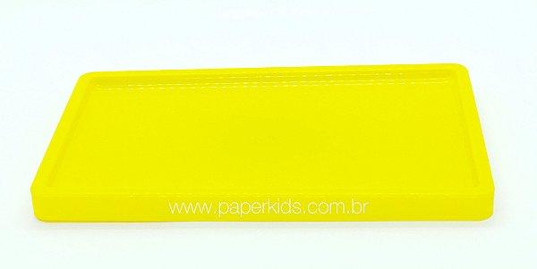 Suporte/ Bandeja para doces - Amarelo (30x18x2cm)