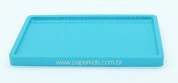 Suporte/ Bandeja para doces - Azul Céu (30x18x2cm)