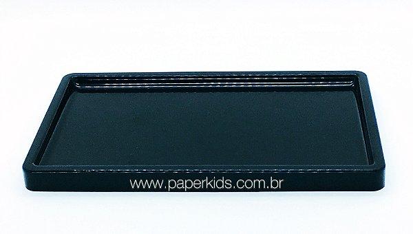 Suporte/ Bandeja para doces - Preto (30x18x2cm)