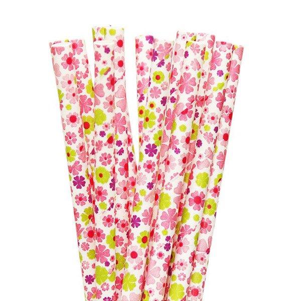 Canudo de papel Floral - Dayse (20 unidades)