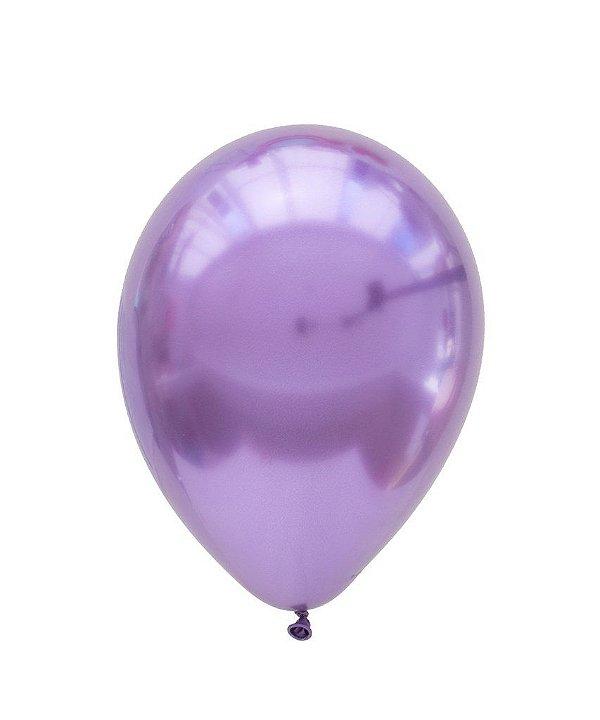 """Balão Chrome Roxo - 11"""" (2 unidades)"""