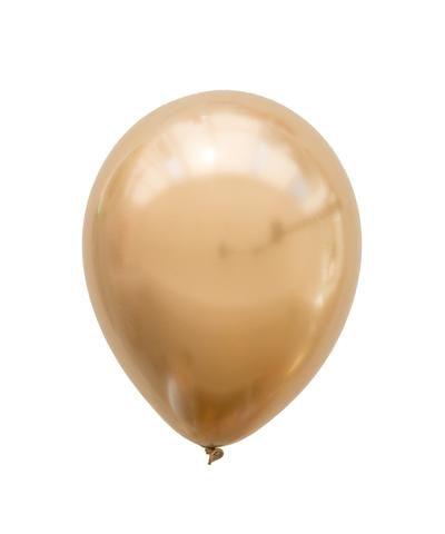 """Balão Chrome Dourado - 11"""" (2 unidades)"""