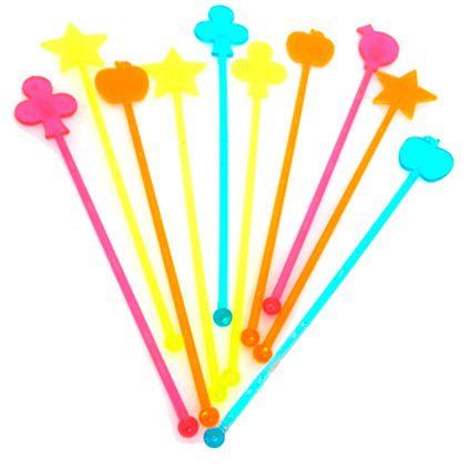Mexedores coloridos - formatos especiais (10 un)